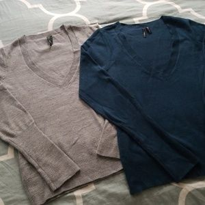 Sweaters - 2 V-neck sweaters